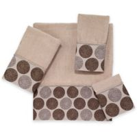 Avanti Dotted Circle Hand Towel in Linen