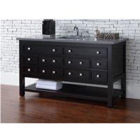 James Martin Furniture Vancouver 60-Inch Single Vanity with 3cm Quartz Top in Espresso/Grey
