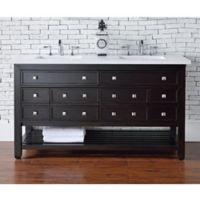 James Martin Furniture Vancouver 60-Inch Double Vanity in Espresso/Snow White