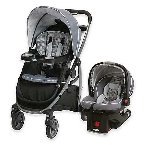 Graco 174 Modes Click Connect Travel System In Black Grey