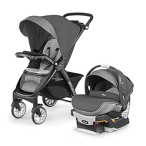chicco bravo le trio travel system in silhouette bed. Black Bedroom Furniture Sets. Home Design Ideas