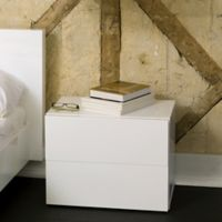 Tema Furniture Inc. Float Wooden 2-Drawer Nightstand in Pure White
