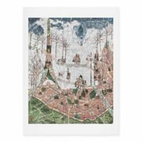 DENY Designs 18-Inch x 24-Inch Paris Map Under The Paris Sun Art Print
