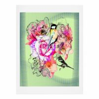 DENY Designs 11-Inch x 14-Inch Birds and Flowers Art Print