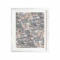 DENY Designs 14-Inch x 16.5-Inch Paris Toile Sugar Pink Framed Wall Art