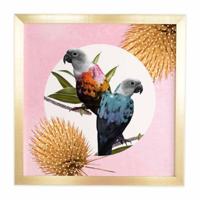 DENY Designs 12-Inch x 12-Inch Jolly Parrots Framed Wall Art  sc 1 st  Bed Bath u0026 Beyond & Buy Parrot Wall Art from Bed Bath u0026 Beyond