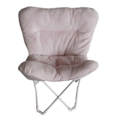 Folding Plush Butterfly Chair in Blush - Buy Folding Living Room Chairs From Bed Bath & Beyond