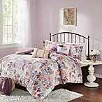 Madison Park Bess 7-Piece King Comforter Set in Purple