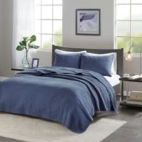 Madison Park Keaton Twin/Twin XL Coverlet Set in Navy
