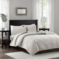 Madison Park Harper Full/Queen Coverlet Set in Ivory