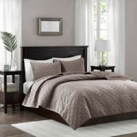 Madison Park Harper Full/Queen Coverlet Set in Taupe