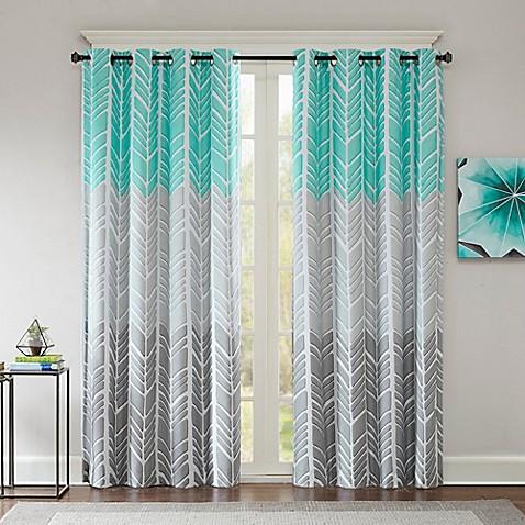 Intelligent Design Adel Printed Blackout 84 Inch Window Curtain Panel Bed Bath Amp Beyond