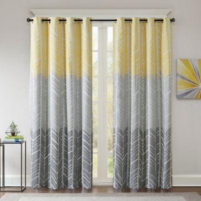 Yellow Window Curtain Panel from Buy Buy Baby
