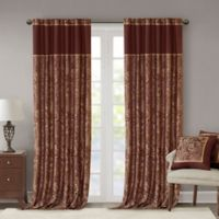 Madison Park Aubrey 108-Inch Window Curtain Panel Pair in Burgundy