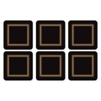 Pimpernel Classic Coaster in Black (Set of 6)