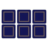 Pimpernel Classic Coaster in Navy (Set of 6)