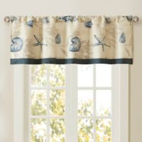 Madison Park Bayside Window Valance in Navy