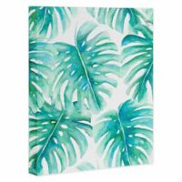 DENY Designs 8-Inch x 10-Inch Paradise Palms Canvas Wall Art