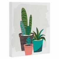 DENY Designs 8-Inch x 10-Inch Cactus Afternoon Canvas Wall Art