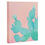 Deny Designs 8-Inch x 10-Inch Pastel Cactus Canvas Wall Art
