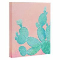 DENY Designs 16-Inch x 20-Inch Pastel Cactus Canvas Wall Art