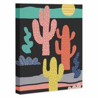 DENY Designs 8-Inch x 10-Inch Night Cactus Canvas Art