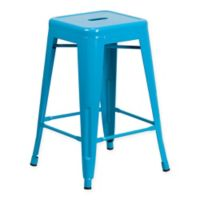 Flash Furniture 24-Inch Backless Counter Stool in Crystal Blue