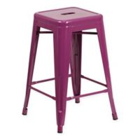 Flash Furniture 24-Inch Backless Indoor-Outdoor Counter Stool in Purple