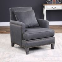 Uttermost Connolly Armchair in Dark Grey
