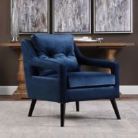 Uttermost O'Brien Velvet Armchair in Blue