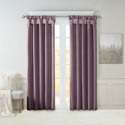 Madison Park Emilia 95 Inch Window Curtain Panel In Purple