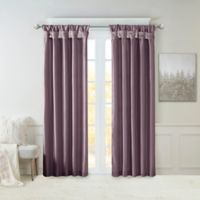 Madison Park Emilia 84-Inch Window Curtain Panel in Purple
