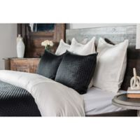 Villa Home Diamond Reversible Queen Quilt in Black