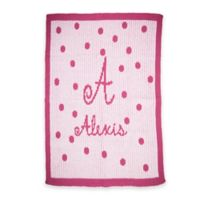 Butterscotch Blankees Precious Polka Dot Knit Stroller Blanket in Pink