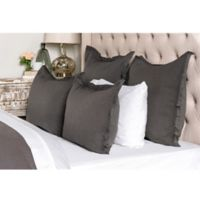 Villa Home Harlow Queen Duvet Cover in Charcoal
