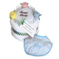 Silly Phillie® Creations 6-Piece Baby Boy Gender Reveal Cake Set in White/Blue