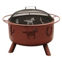 29-Inch Big Sky Western Fire Pit in Clay