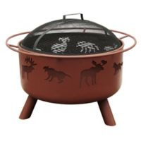 29-Inch Big Sky Wildlife Fire Pit in Clay