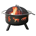 Landmann USA 29-Inch Big Sky Wildlife Fire Pit in Black