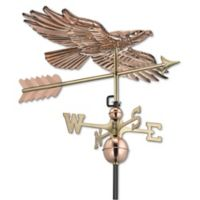 Good Directions Soaring Hawk Weathervane in Polished Copper