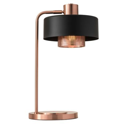 adesso bradbury 235inch desk lamp in brushed copper