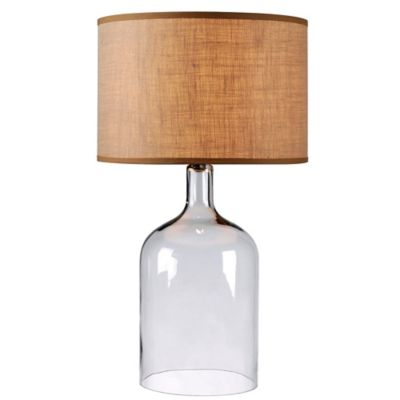 Buy clear lamp base from bed bath beyond kenroy home capri table lamp in clear glass with fabric shade aloadofball Images