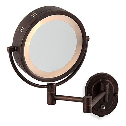 Jerdon 5X/1X Halo Bronze Wall Mount Mirror - Bed Bath & Beyond