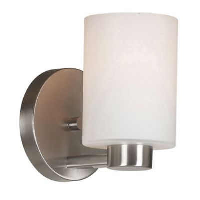Wall Lamps Bed Bath Beyond : Kenroy Home Encounters 1-Light Wall Sconce in Brushed Steel - Bed Bath & Beyond
