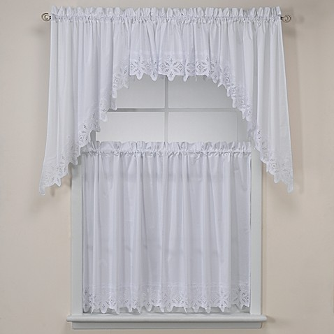 Kaitlyn Kitchen Window Curtain Tiers Bed Bath Amp Beyond