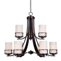 Kenroy Home Theo 9-Light Chandelier in Copper