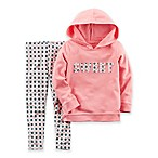 carter's® Size 6M 2-Piece Long Sleeve  Sweet  Hooded Top and Pant Set in Pink