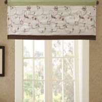 Madison Park Serene Embroidered Window Valance in Green