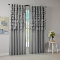 Intelligent Design Waterfall Ruched 63-Inch Window Curtain Panel in Grey