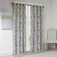 Madison Park Ronan Cotton Paisley 63-Inch Window Curtain Panel in Grey